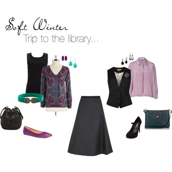 """Soft Winter Library Wear"" by simplycrimson on Polyvore -- What could be more fun than wearing a pretty outfit and going to the library? #librarywear #bookworm #businesscasual #retrochic #vintageinspired"