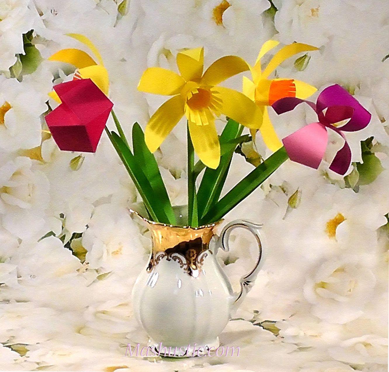 Easy paper flower bouquet diy mashustic crafting pinterest easy paper flower bouquet diy mashustic mightylinksfo Images