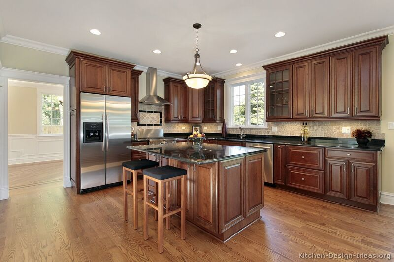 "Kitchen Ideas Th traditional tuesday"" kitchen of the day: beautiful cherry cabinets"