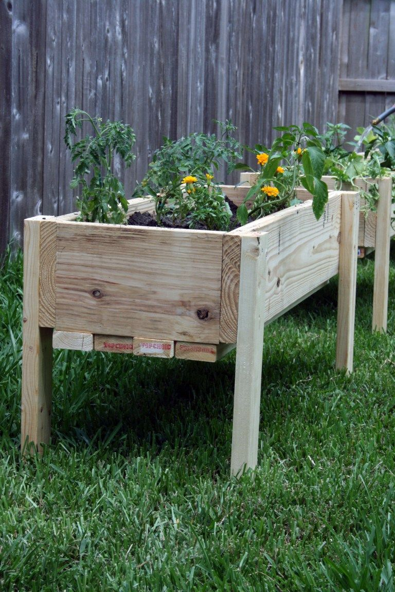 Elevated Garden Ideas recycled pallet raised garden bed Elevated Off Ground Garden Beds With Plans