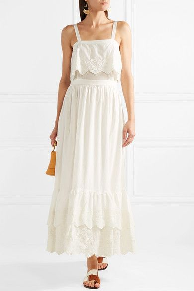 Embroidered Cotton-voile Maxi Dress - White Paul & Joe oTn4PiG1lf