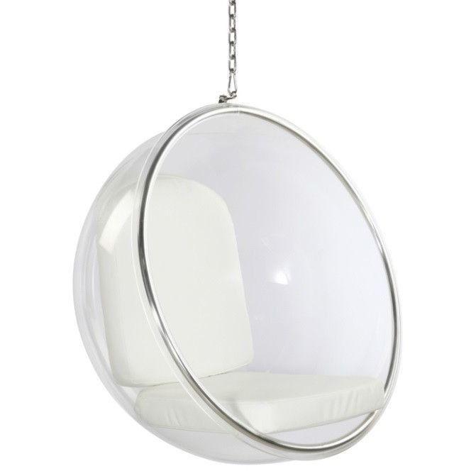 Fine Mod Imports FMI1122 Bubble Hanging Chair White
