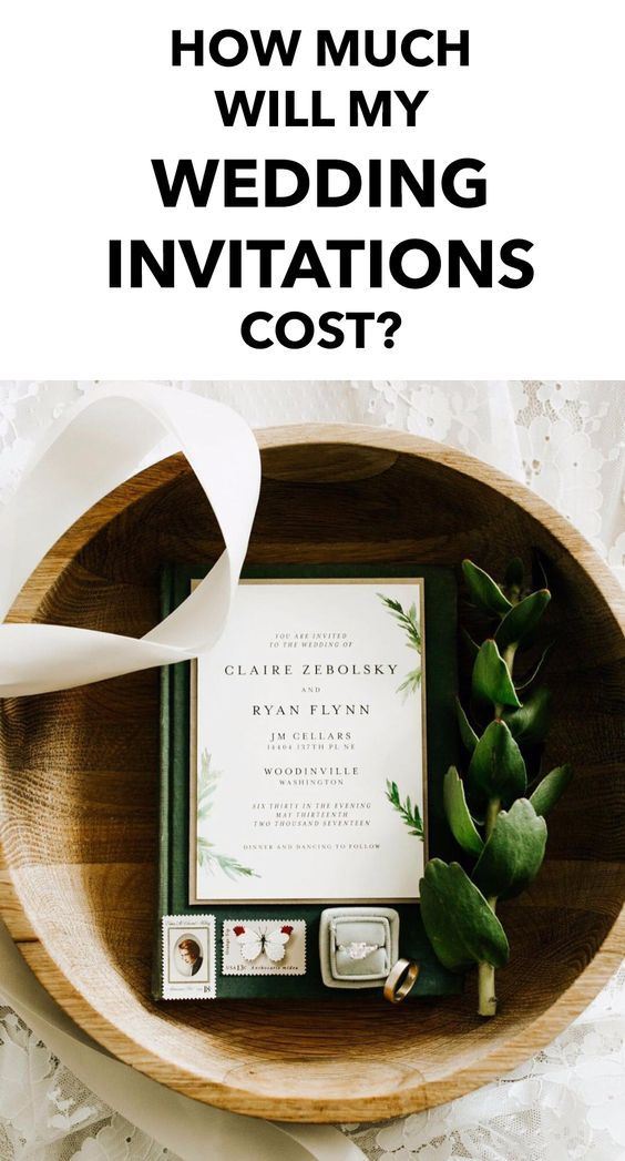 How Much Will My Wedding Invitations Cost Everything Wedding