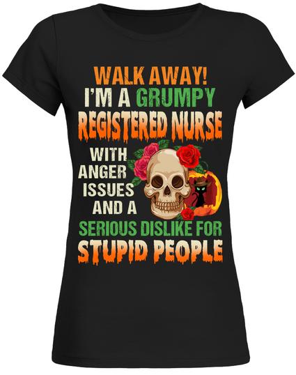 94ca5c66444ae Grumpy registered nurse. Halloween costume t-shirt gift for nurses ...