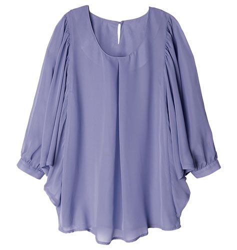 Chiffon Swing Top  100% polyester chiffon. Machine wash and dry. Imported.