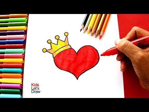 Corazon Con Corona Corona Dibujo Buho Dibujo Dibujos De Corazones