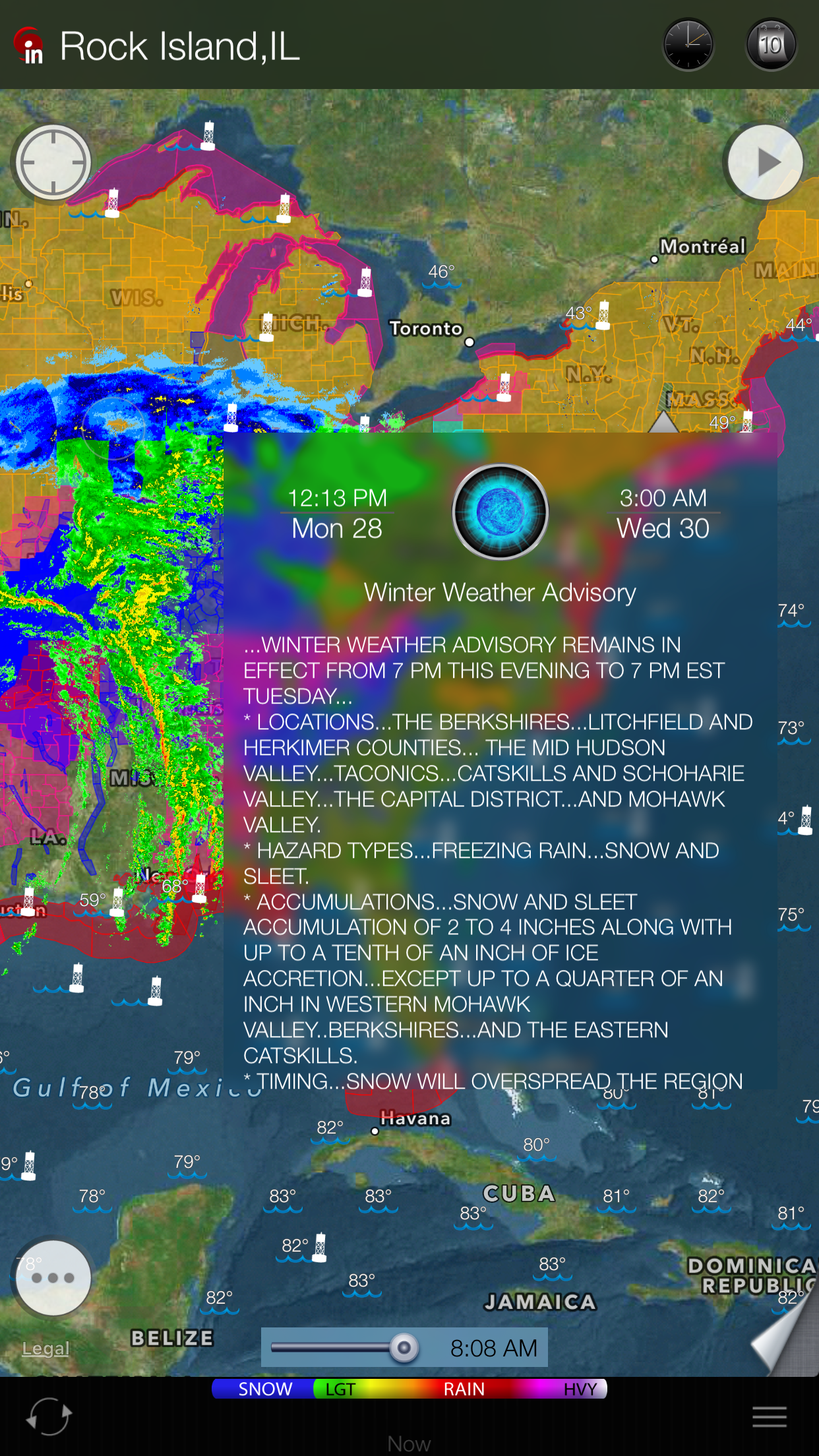 eWeather HD for iPhone and iPad -multilayered weather maps