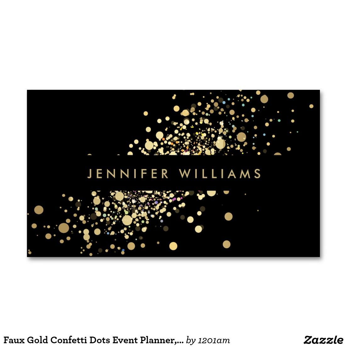 Faux Gold Confetti Dots Event Planner, Stylist Double-Sided Standard ...
