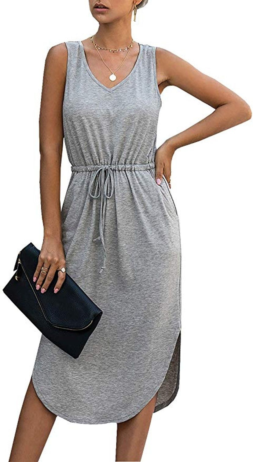 34 Comfortable Pieces That Look Great On Everyone Under Are 30 On Amazon Modest Dresses Casual Casual Dress Grey T Shirt Dress [ 1513 x 828 Pixel ]