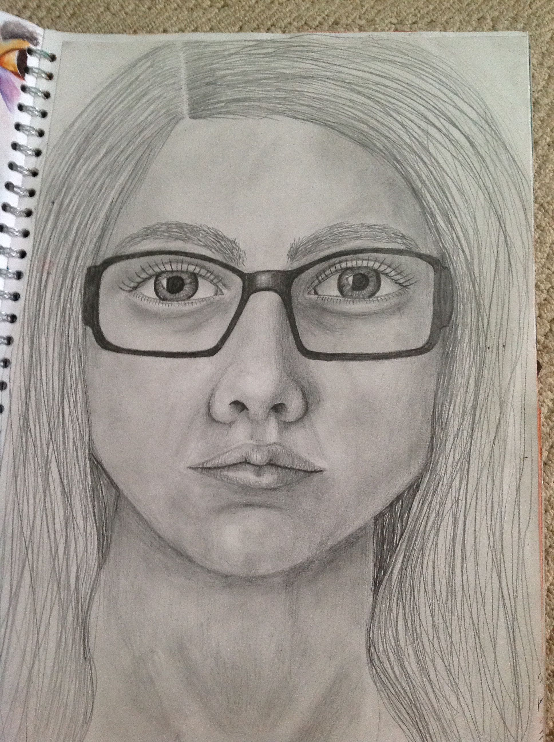 Self Portrait In Pencil For Human Form As Art