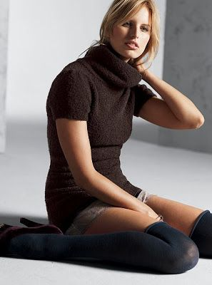 Bouclé turtleneck tunic sweater  $35