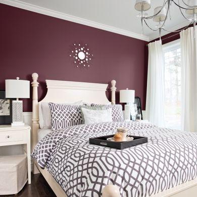 Chambre Hollywood - Glamour - Violet et blanc cassé - Années 40 ...