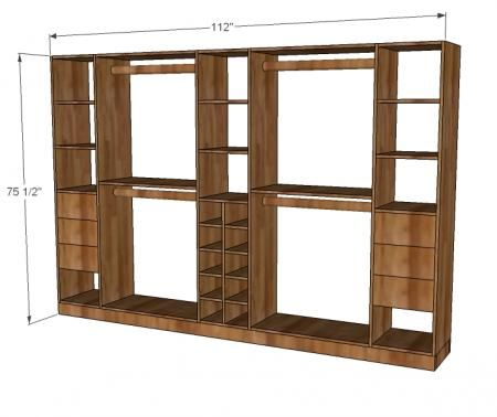 General The Container Store Elfa Recommended DIY Closet System Storage