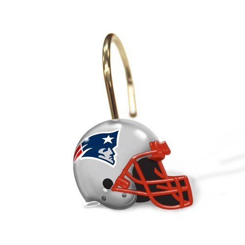 England Patriots Shower Curtain Rings Nfl Set Of 12