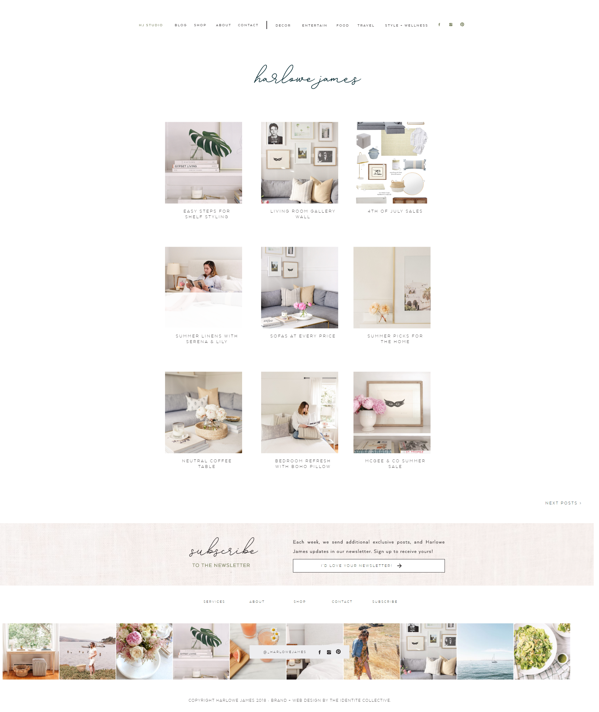 The Identite Collective Branding Web Design And Content Creation For Interior Designers And Lifestyle Brands Harlowe James Blog Web De Web Design Web Design Company Design Inspiration