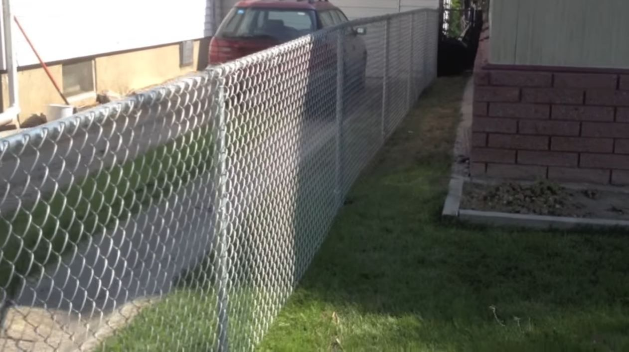 Chain link fence privacy slats fence chain link fence