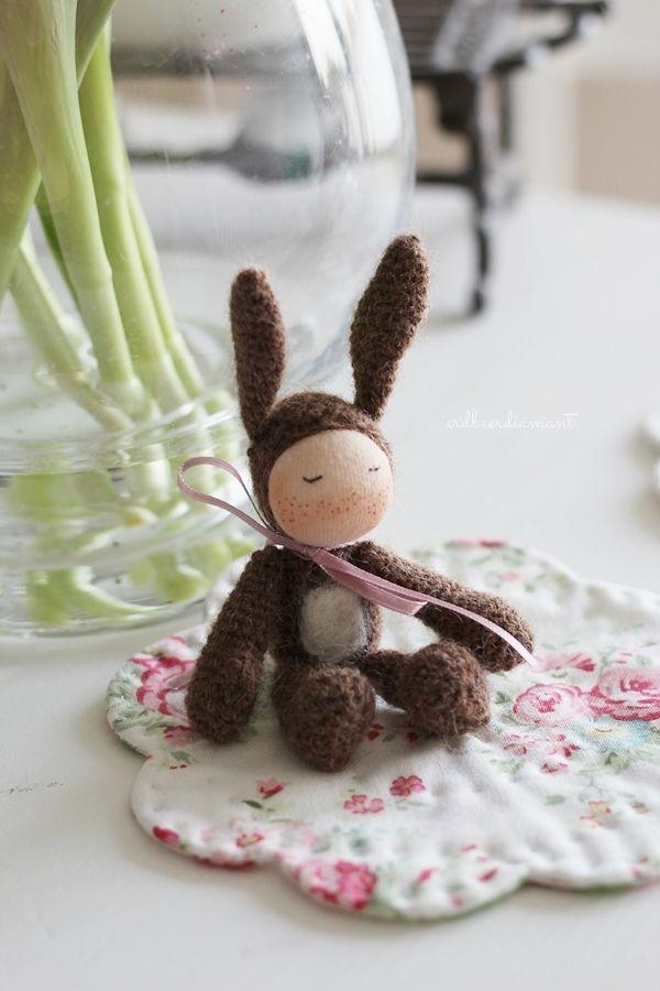 Sonntagshäschen ♥ (erdbeerdiamant) | Ostern, Handarbeiten und Häkeln
