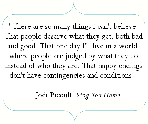 Jodi Picoult Sing You Home This Is The First Book I Read By Jodi