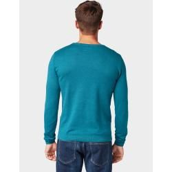 Photo of Tom Tailor Herren Strickpullover in Mélange-Optik, blau, Gr.xxxl Tom TailorTom Tailor