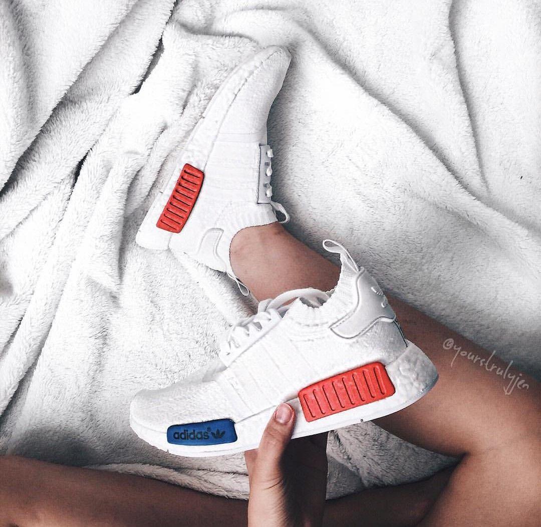 Adidas Originals NMD en weiß PI K & Blau / blanco Pink & AZUL / / foto