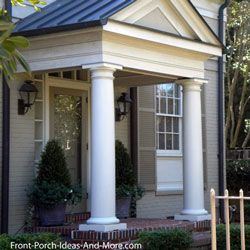 How to build a porch front porch columns porch columns for Round porch columns