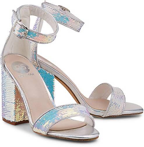 Schuhe Silber Keil Sandalette Another A Sandaletten Damen Schuhe