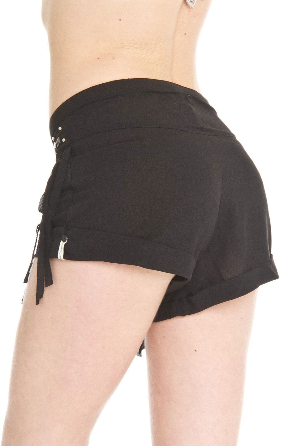 One Teaspoon Khaleesi Shorts in Black - Beyond the Rack