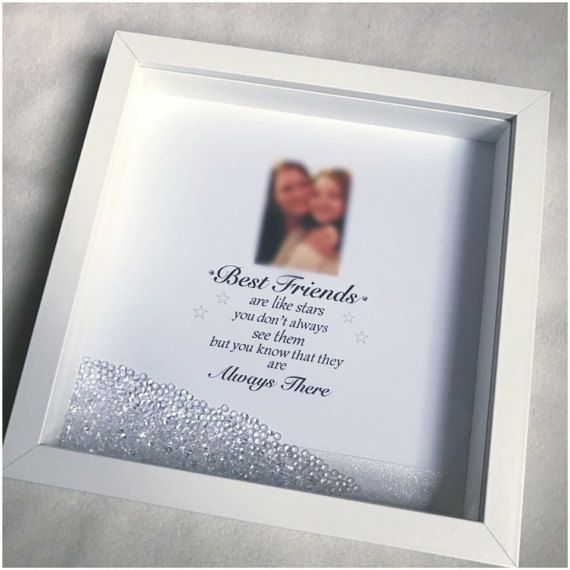 Friend Frame Friend Gift best friends are like stars | baby 3d box\'s ...