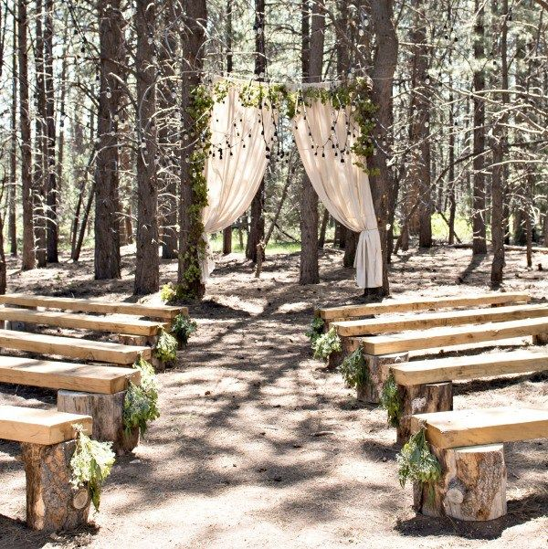 A Woodland Themed Outdoor Wedding | Diy wedding backdrop ...
