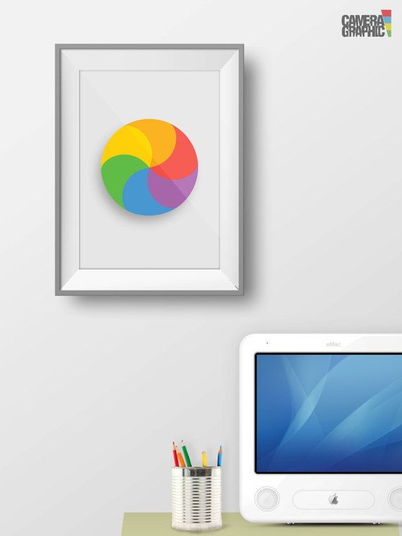 Spinning Beach Ball Spinning Pinwheel Print By Thecameragraphic Unique Poster Prints Minimalist Art