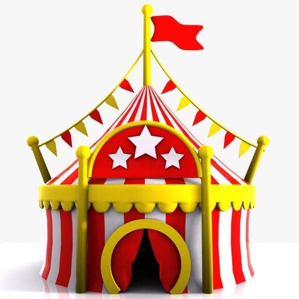 cartoon circus tent 3d model | Circus | Pinterest | Models ...