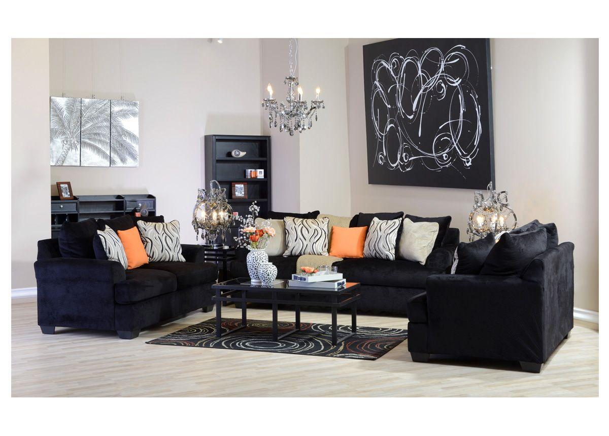 غرفة جلوس تنفرد بلونها الأسود المخملي لشاعرية أكثر غرف جلوس مفروشات شاعرية ميداس Furniture Home Decor Modern House