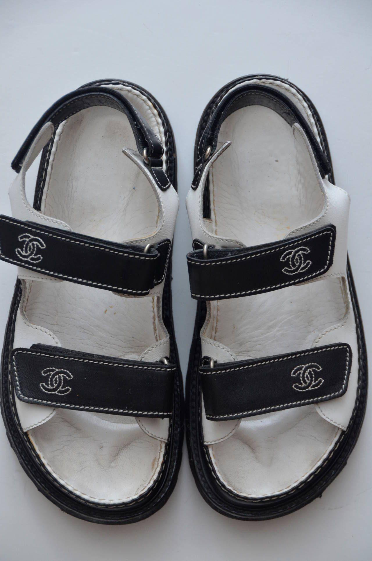 """Chanel """"Birkenstock"""" Sandals"""