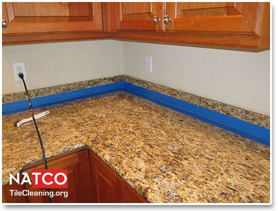 Taping Off Granite Countertop Before Caulking