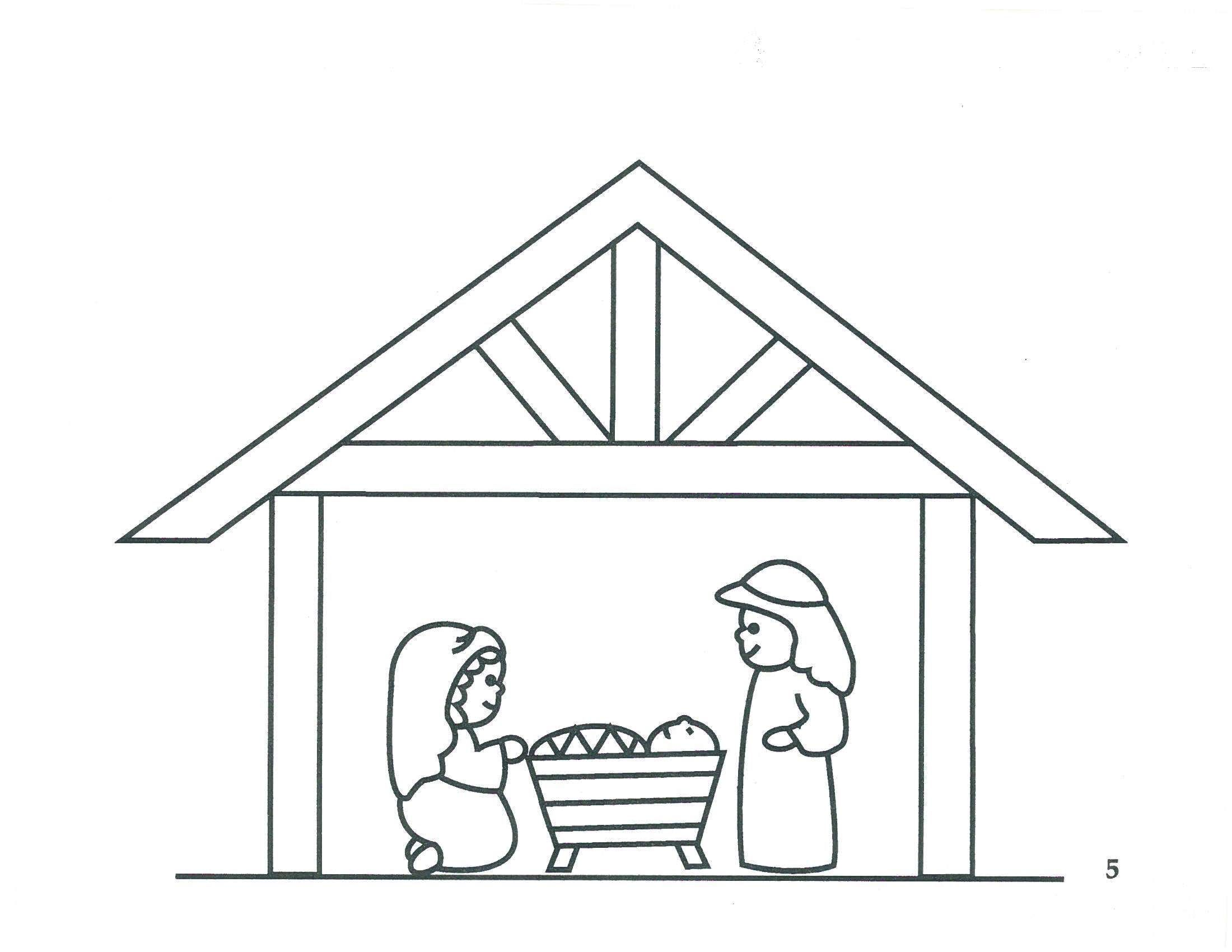 "Freebie!! Precious Manger scene for little ones to color or ""dot"" paint!"