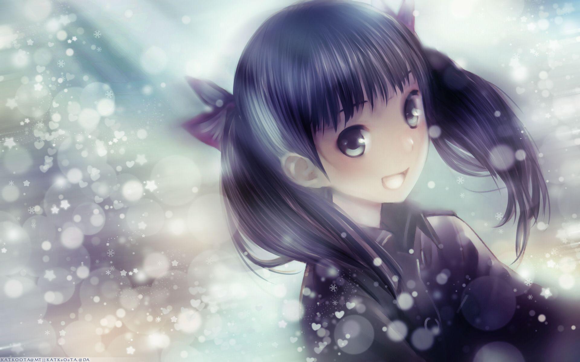 Anime Cute Girl HD Widescreen Desktop Wallpaper(画像あり) ナノ