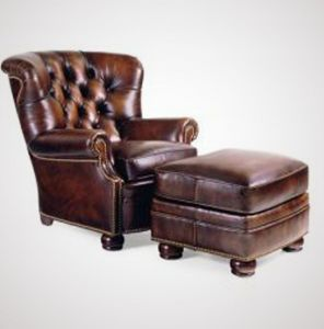 Every Library Has To Have A Brown Overstuffed Leather Chair With A