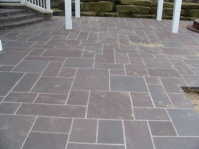 Lilac Random Pattern Thick Lilac Flagstone Patio Installed - Flagstone patio patterns