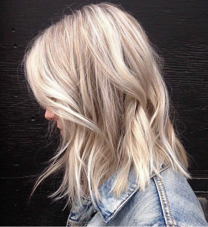 Balayage Blond Polaire Cheveux Lisse