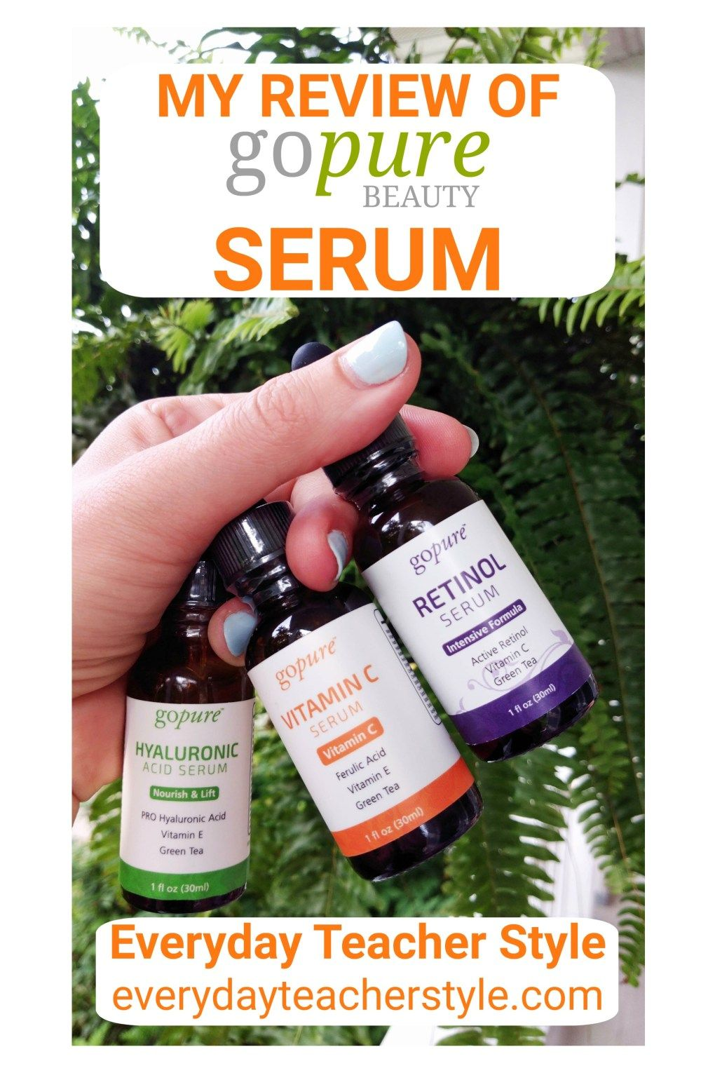 gopure beauty serum review Beauty serums, Pure skin care