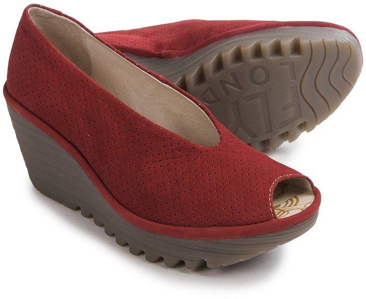 bd2616cb Fly London Yury Perf Shoes - Nubuck, Wedge Heel (For Women ...