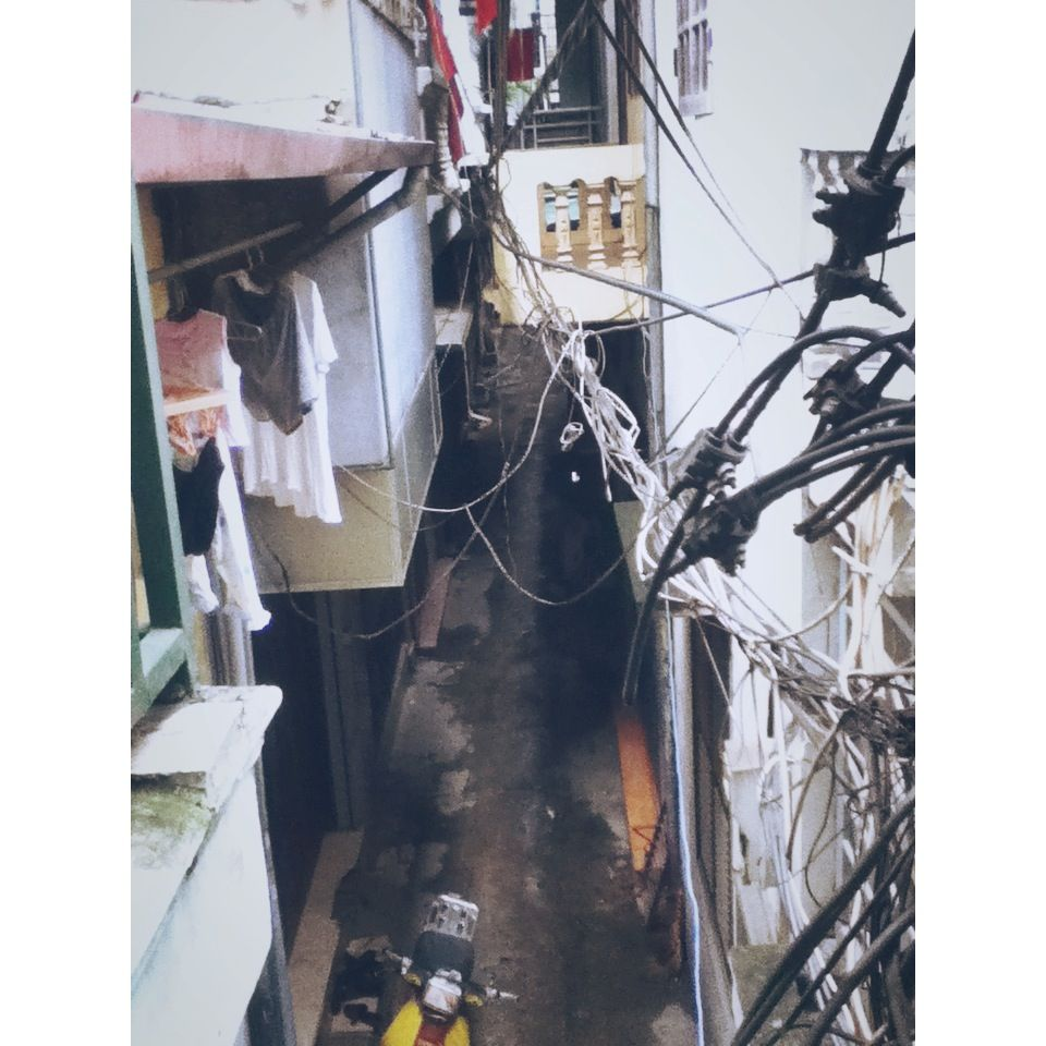 A typical small alley of Hanoi