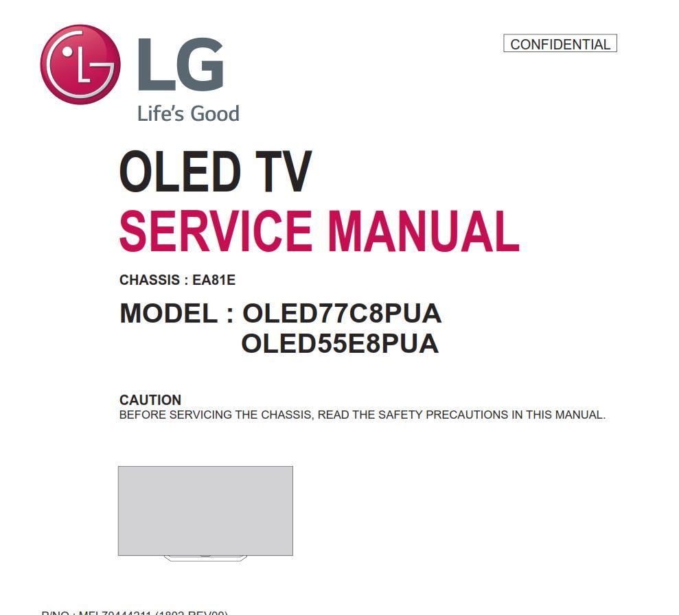 Lg Oled55e8pua Oled77c8pua Oled Tv Service Manual Tv Services Oled Tv Software Update
