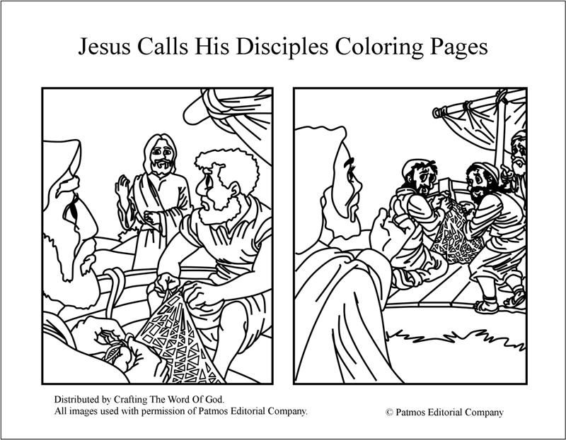 Jesus Calls His Disciples Coloring Pages Day 3