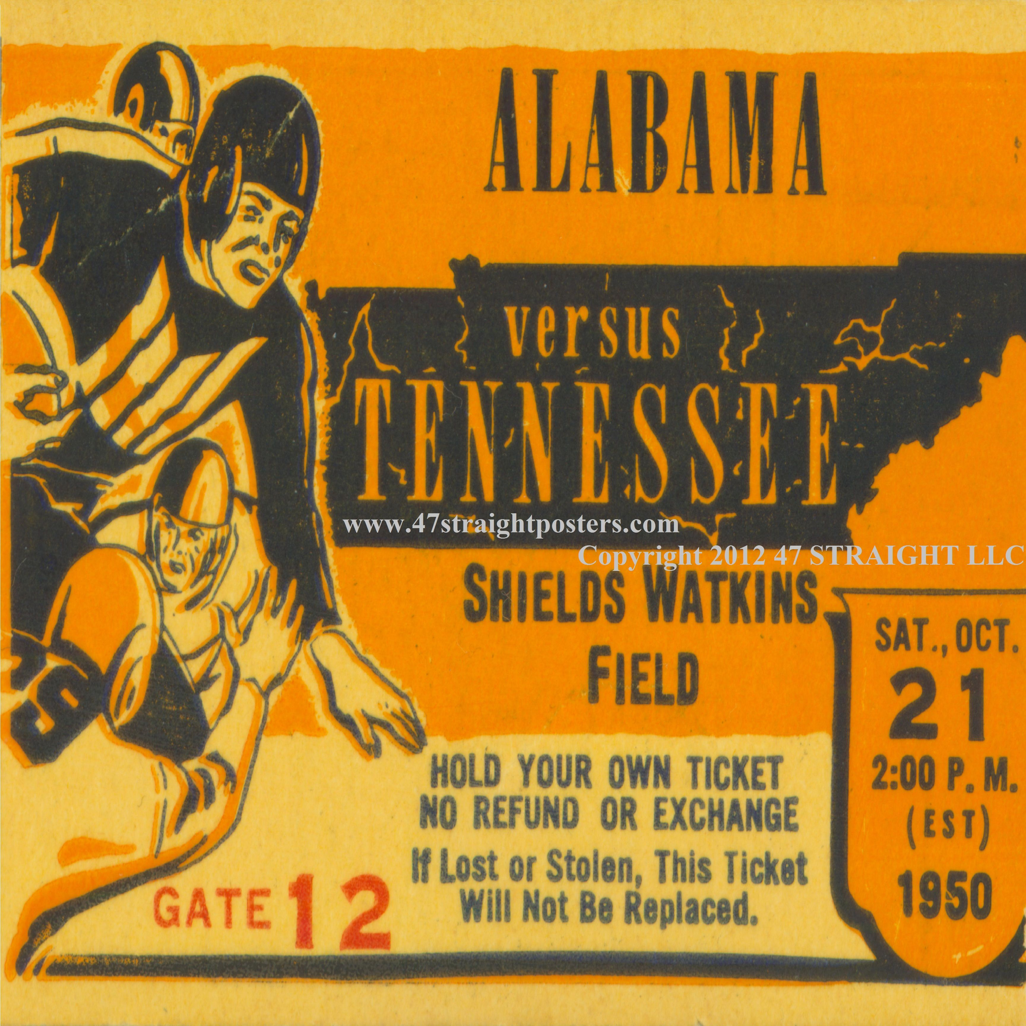 Tennessee football ticket drink coasters made from