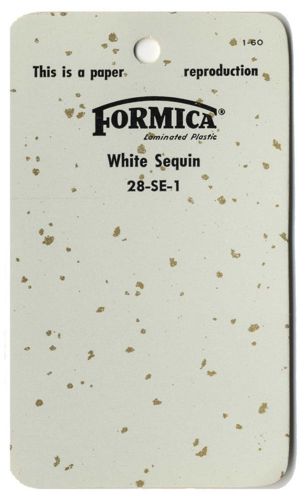 42 historic designs of glitter laminate - from Formica, Textolite ...