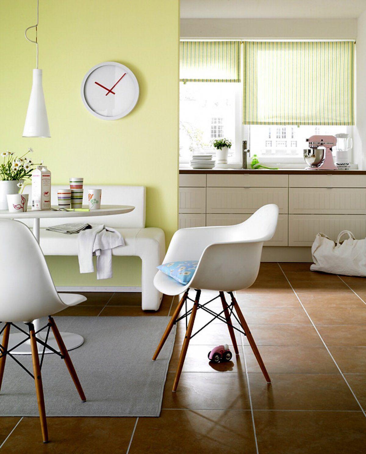 Wände In Frühlingsfarben: Lindgrün, Weiß, Terrakotta