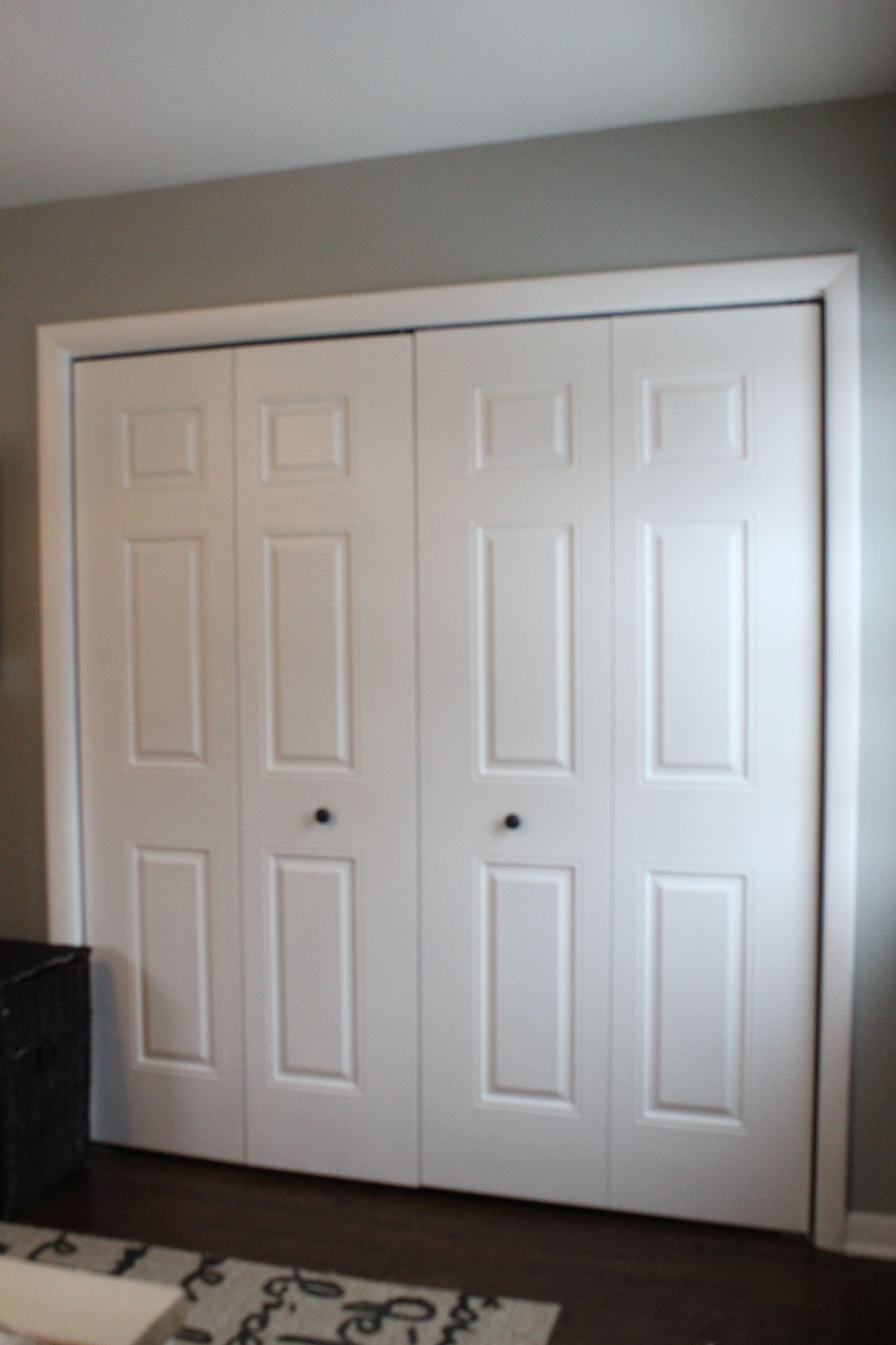 Furniture,Fashionable Bamboo Closet Door Ideas With Nice White Teak Wood  Door Frame Material And