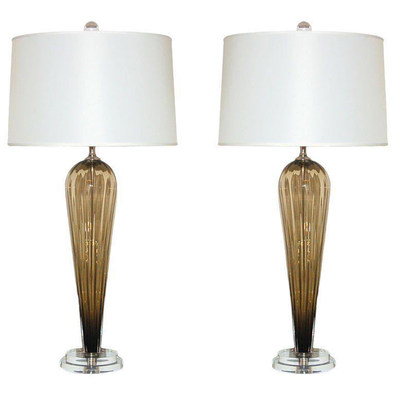Joe Cariati Hand Blown Glass Teardrop Table Lamps Bronze In 2020 Table Lamp Hand Blown Glass Glass