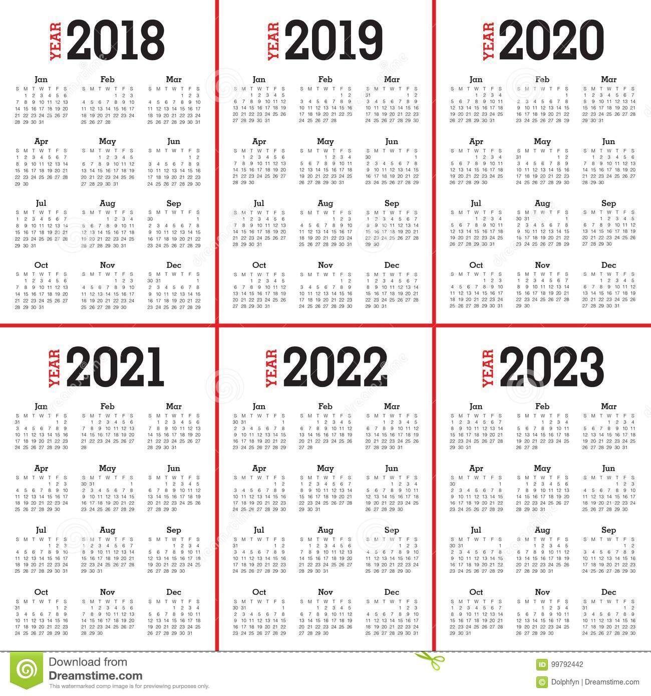 Bilderesultat For 5 Year Calendar